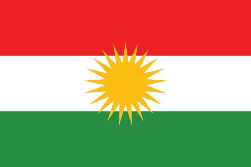 bandiera kurdistan iracheno