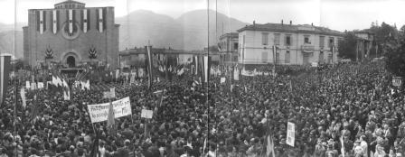 8 ottobre 1961, manifestazione commemorativa e inaugurazione del sacrario di Marzabotto (Centro di d