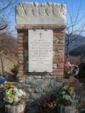Ca' del Bue: cippo a ricordo dei partigiani fucilati il 5 agosto 1944